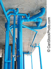 pvc pipe -  pvc pipe in construction site