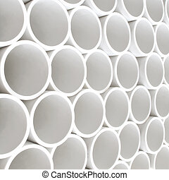 PVC pipes - Intersting perspective of new white PVC pipes...