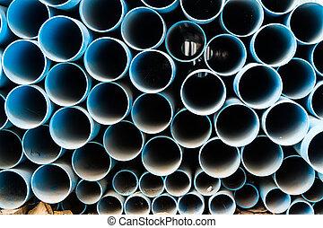 pvc, tubos, pila