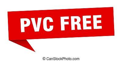 pvc, underteckna, bubble., anförande, banner., gratis