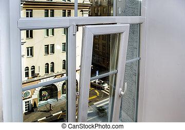 PVC window in renovated flat