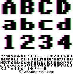 Pxiel font - Video games big pixels font with chromatic ...
