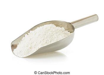 pył, biały, pszeniczny chleb