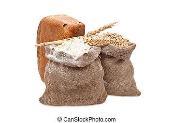 pył, pszeniczne ziarno, bread