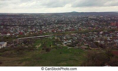 Pyatigorsk aerial lanscape at April - Pyatigorsk city aerial...