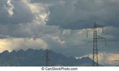 pylon 01 - High voltage power line