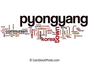 pyongyang, ord, moln