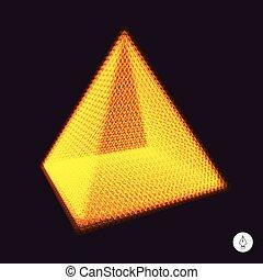 Pyramid. 3d vector illustration.