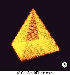 Pyramid. 3d vector illustration.