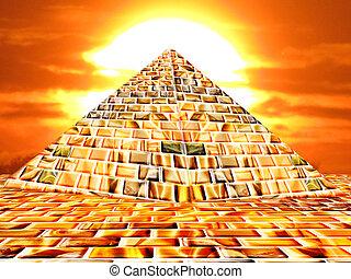 Pyramid - A pyramid by sunset
