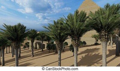 Pyramid at the Sahara oasis