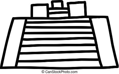 Pyramid cartoon icon
