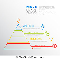 Pyramid chart diagram template