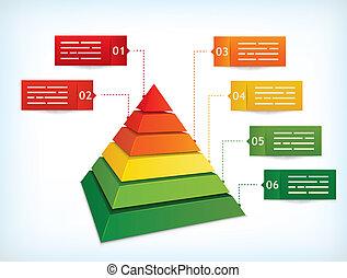 Pyramid chart - Presentation template with a pyramidal...