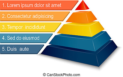 Pyramid chart for infographics presentation vector...