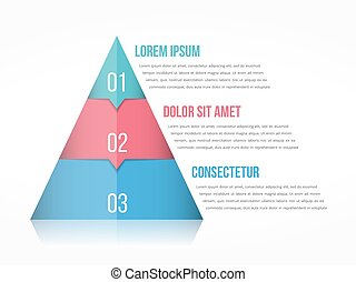 Pyramid Chart - Pyramid chart with three elements with...