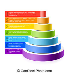 Pyramid chart vector illustration