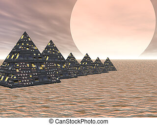 Pyramid City - High tech pyramids