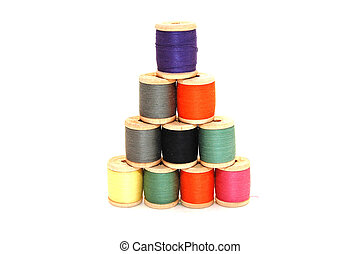 Pyramid combined from with threads