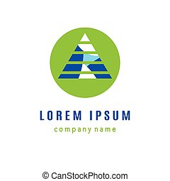 Pyramid creative logo design