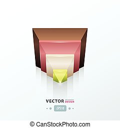 pyramid design icon