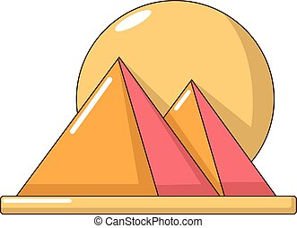 Pyramid egypt icon, cartoon style