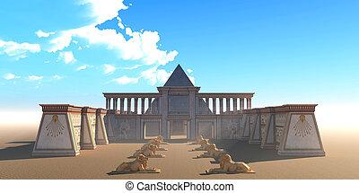 Pyramid Egyptian Temple
