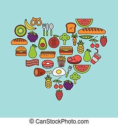 Pyramid food illustration