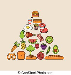 Pyramid food illustration