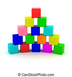 Pyramid from cubes
