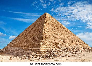 Pyramid, Giza - Pyramid of Khufu, Giza.