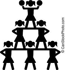 pyramid, hejarklacksanförare