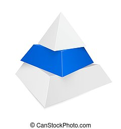 Pyramid icon for business concept background.