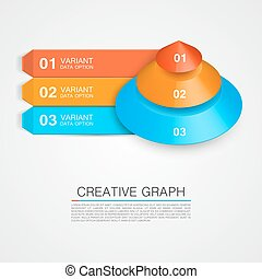 Pyramid icon for business creative graph.