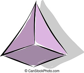 Pyramid, illustration, vector on white background.