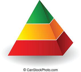 Pyramid illustration - Vector pyramid illustration