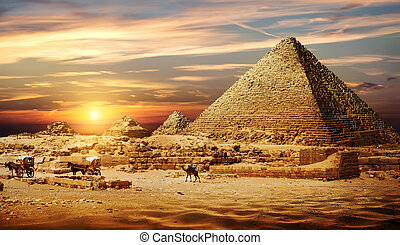 Pyramid in desert