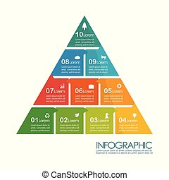 Pyramid infographic chart template