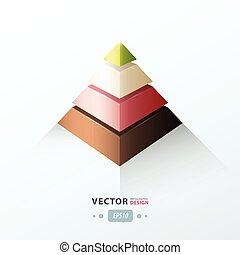 pyramid infographic design
