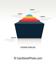 pyramid infographic template 3D design