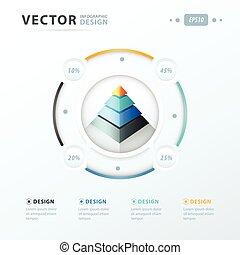 pyramid infographic template design