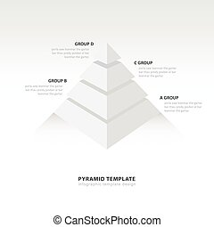 pyramid  infographic template white color balance