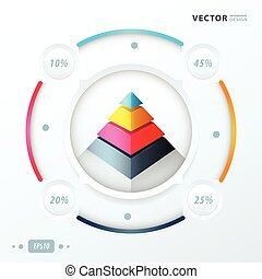 pyramid infographic vector design