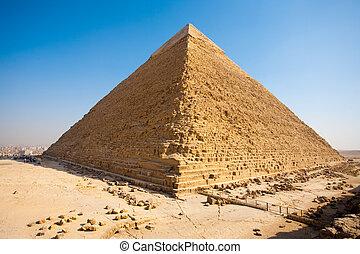 Pyramid Khafre Rear Giza - The pyramid of Khafre seen from...