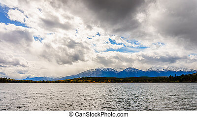 Pyramid Lake with the Whistlers Mtn