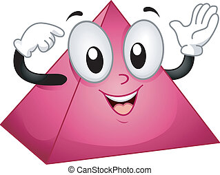 Pyramid Mascot - Mascot Illustration of a Happy Pyramid