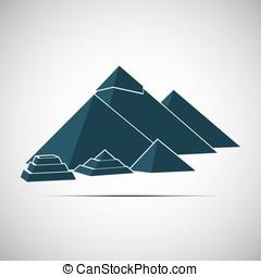 pyramid monument construction Cairo Giza Egypt - Five...