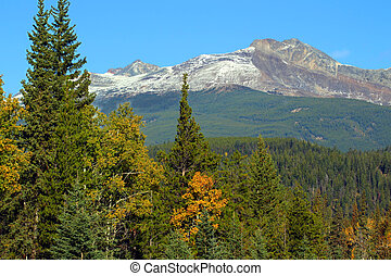 Pyramid Mountain near Jasper - Pyramid Mountain rises high ...