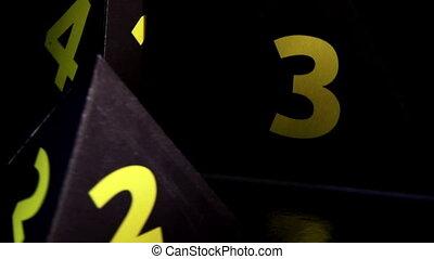 Pyramid numbers rotate