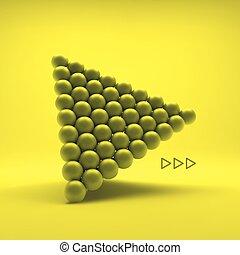 Pyramid of balls. 3d vector illustration
